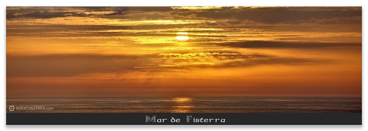 Ara Solis Mar de Fisterra, Comprar fotografía de Galicia Paisajes Gallegos Puesta de Sol Mar de Fisterra Decoración Naturaleza