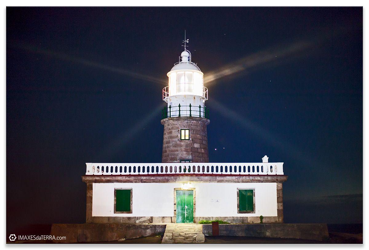 Comprar fotografía Faros de Galicia Faro de Corrubedo Planetas Venus y Júpiter Naturaleza Decoración Paisajes