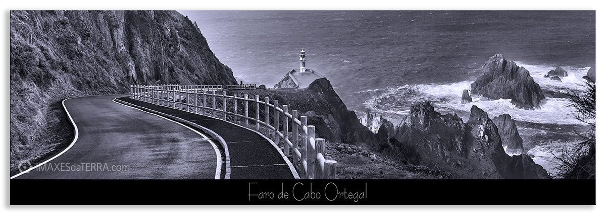 Faro de Cabo Ortegal  b& n, Comprar fotografa Faros de Galicia Faro de Cabo Ortegal Natureza Decoración Paisaxes, Branco e Negro
