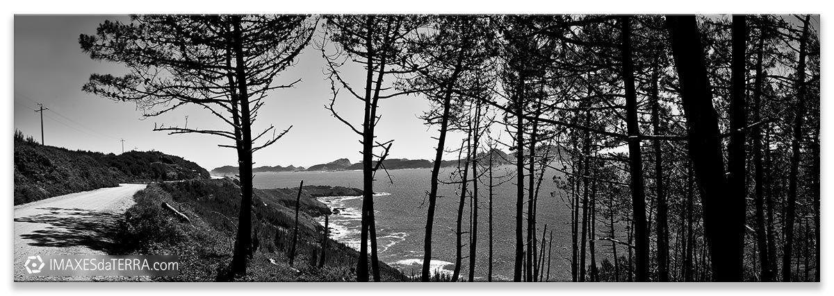 Costa da Vela, Comprar fotografía Galicia Costa da Vela O Morrazo Natureza Illas Cíes Decoración Paisaxes, Branco e Negro