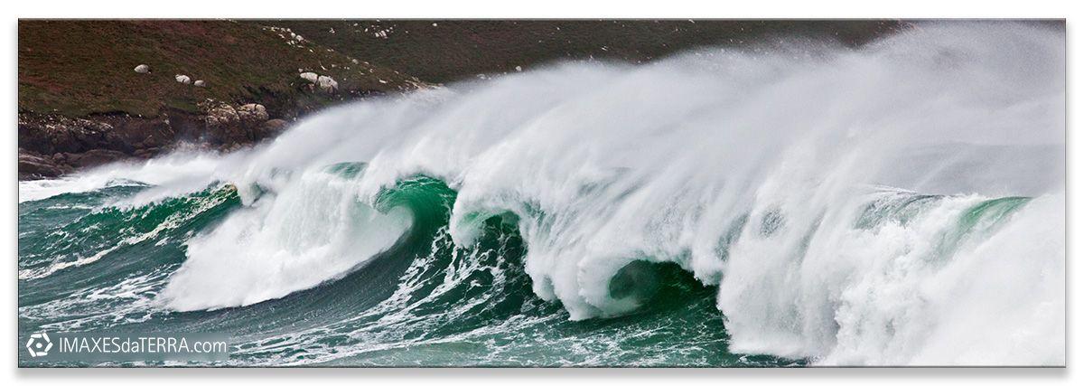 Mar de Muxía, Comprar fotografía de Galicia Mar de Muxía Tormenta Costa Temporal Decoración natureza