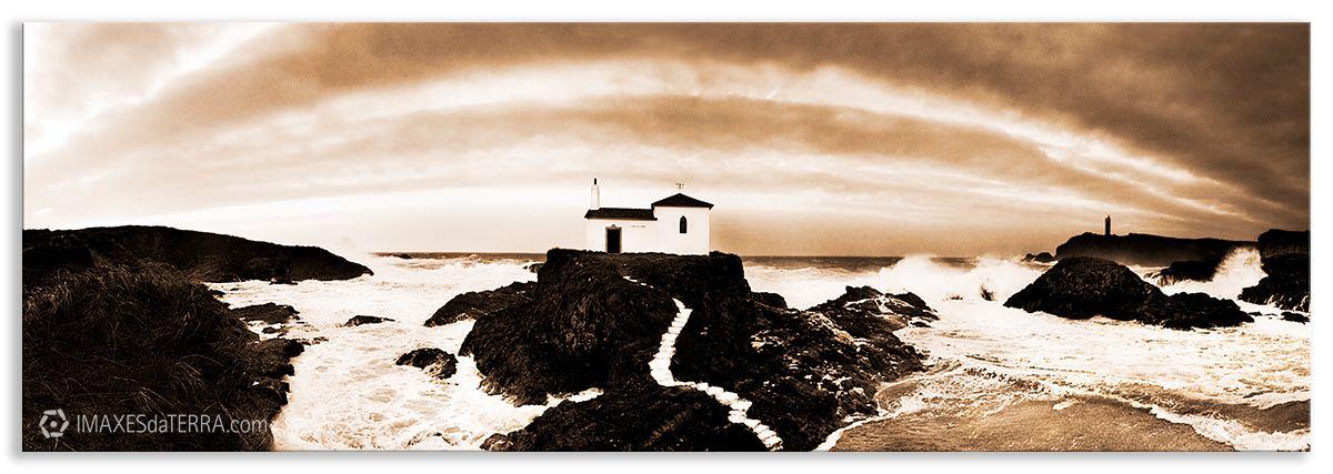Escalera al cielo - Ermita da Virxen do Porto fotografía pasaije Ermita da Virxen de Porto Valdoviño Naturaleza Paisaje Decoración Sepia