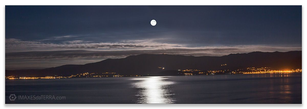 Comprar fotografía de Galicia Luna Corcubión Decoración Naturaleza Paisaje