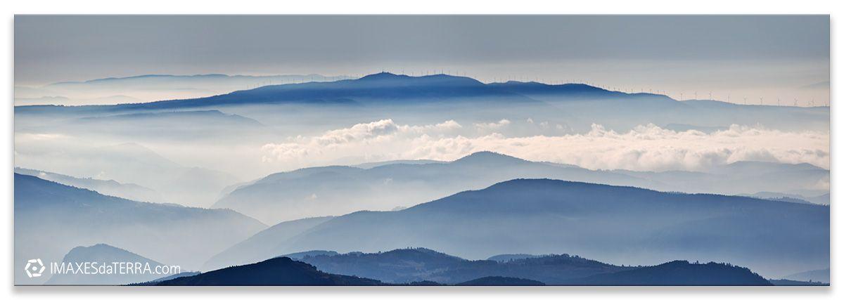 Amanecer Serra do Caurel fotografía de Galicia Serra do Caurel Niebla Decoración Naturaleza Paisaje