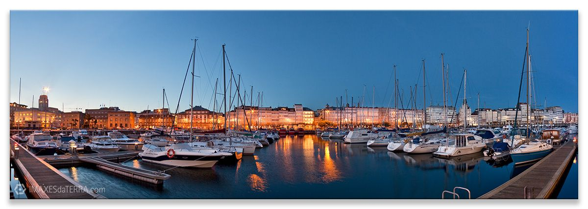 Comprar fotografía de Galicia A Coruña A Marina Galerías Náutico Decoración Panorámica