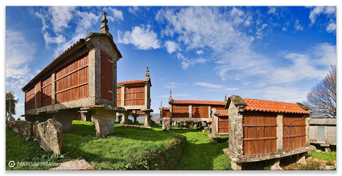 Hórreos  Eira  da Ermida, Comprar fotografía Galicia Filgueira Cerdedo Pontevedra Hórreos  Decoración paisaxes natureza  Eira  da Ermida