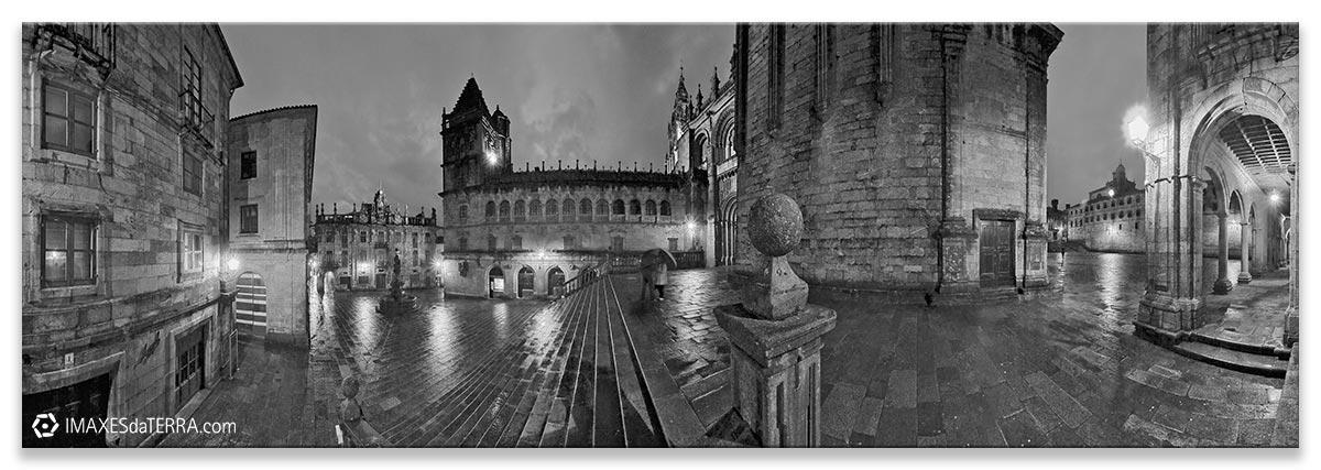 Praza dás  Praterías, Comprar fotografía de Galicia Santiago de Compostela Catedral Peregrinos  Praza dás  Praterías Camiño de Santiago Decoración