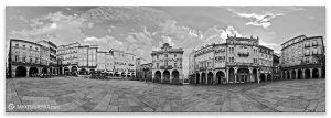 Ourense Praza  Maior  b& n, Comprar fotografía de Galicia Ourense Praza  Maior  Decoración Panorámica  b& n