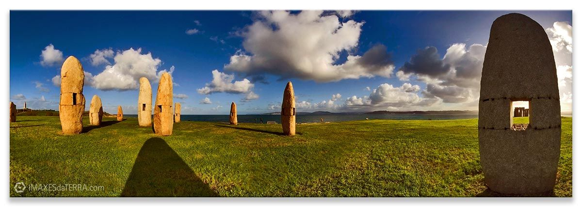 Comprar fotografía de Galicia A Coruña Menhires Paisaje Naturaleza Decoración Panorámica