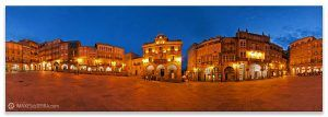 Comprar fotografía de Galicia Ourense Plaza Maior Vista Nocturna Decoración Panorámica