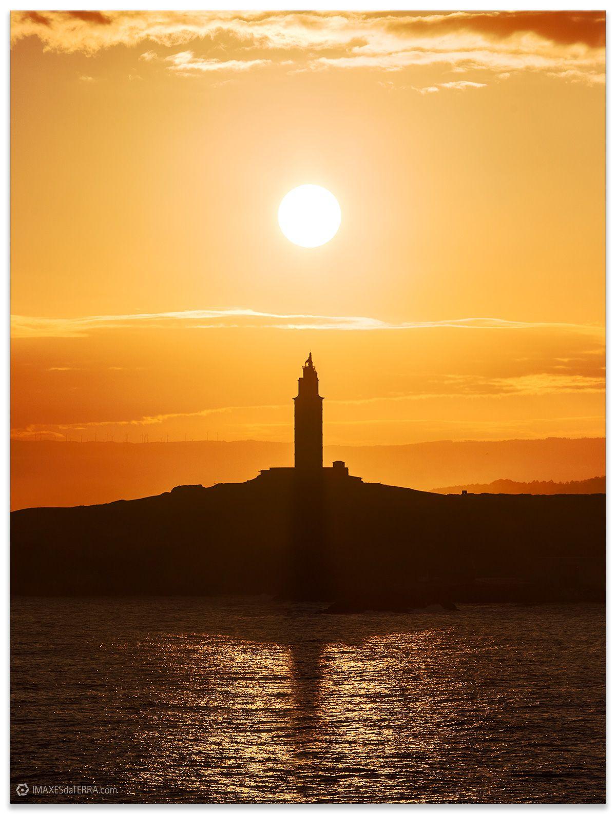 Comprar fotografía de Galicia Torre de Hércules Faros Gallegos Amanecer Decoración Naturaleza Paisaje